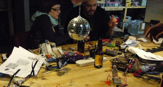 discorobots @ foulab montreal